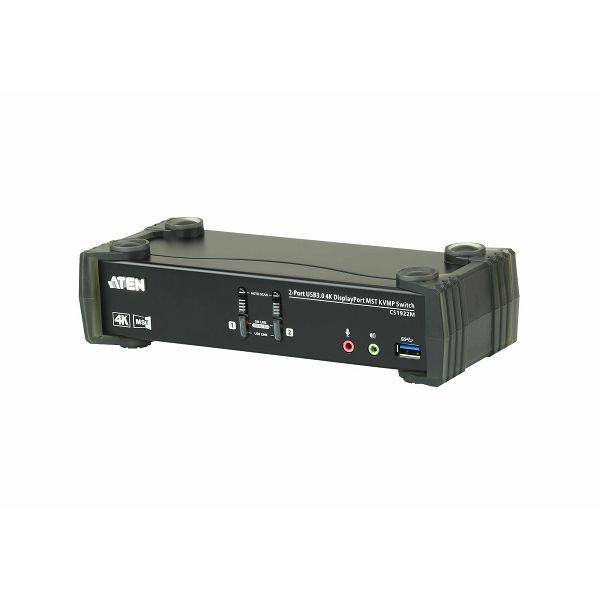 2-Port USB 3.0 4K DisplayPort MST KVMP™ Switch (Kabli priloženi)