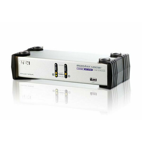 Aten CS1742, 2-Port USB VGA Dual Display/Audio KVMP™ Switch