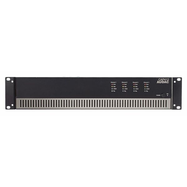 AUDAC CAP412 - QUAD CHANNEL POWER AMPLIFIER 4 X 120W 100V