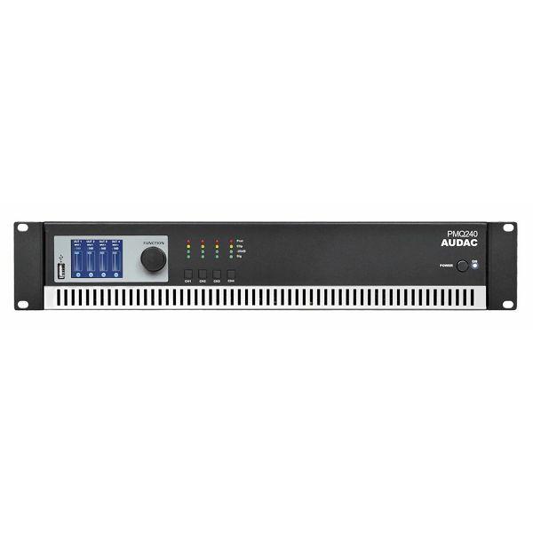 AUDAC PMQ240 - WAVEDYNAMICS™ QUAD-CHANNEL 100V POWER AMPLIFIER
