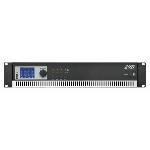 AUDAC PMQ480 - WAVEDYNAMICS™ QUAD-CHANNEL 100V POWER AMPLIFIER