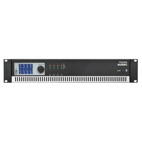 AUDAC PMQ600 - WAVEDYNAMICS™ QUAD-CHANNEL 100V POWER AMPLIFIER