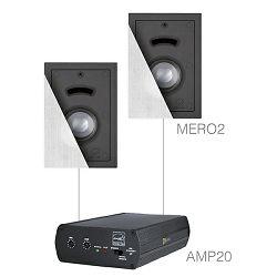 Audio sistem Audac Cerra 2.2 (Ojačevalec AMP20, Zvočniki MERO2)