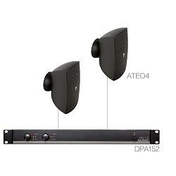 AUDAC Festa 4.2 - Audio sistem (Ojačevalec DPA152, Zvočniki ATEO4)