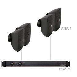 AUDAC Festa 4.4 - Audio sistem (Ojačevalec DPA152, Zvočniki ATEO4)