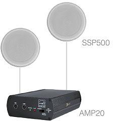 Audio sistem Audac Purra 5.1 (Ojačevalec AMP20, zvočniki SSP500)