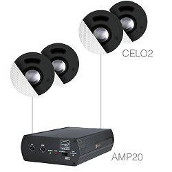 Audio sistem Audac Senso 2.4 (Ojačevalec AMP20, Zvočniki CELO2)