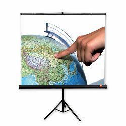 Prenosno platno na trinožnem stojalu AVTEK TRIPOD Standard 150, 150x150 cm, format 1:1