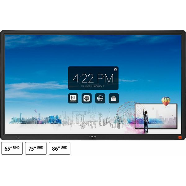 Zaslon na dotik CTOUCH Laser nova 86'', WIFI, Android 7, UHD, JBL 80W