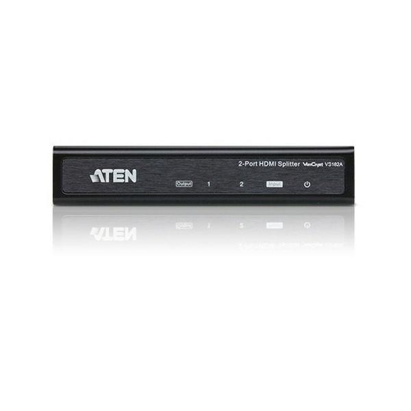 ATEN VS182A, 2 PORT HDMI SPLITTER W/1.8m W/EU ADP (4k x 2k)