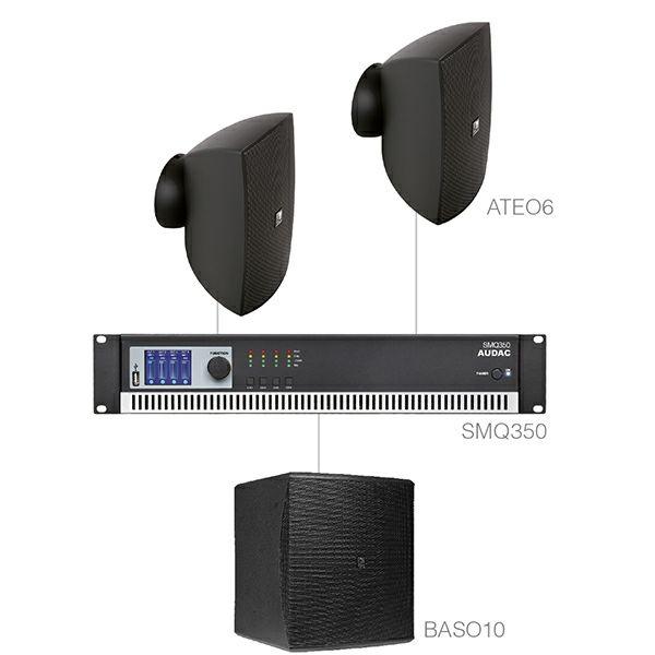 AUDAC Festa 6.3 - Audio sistem (Ojačevalec SMQ350, Zvočniki ATEO6, bass BASO10)
